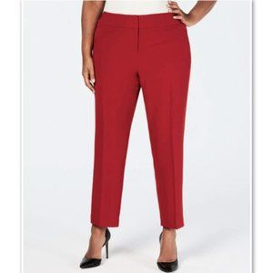 KASPER Womens Red Zippered Pants